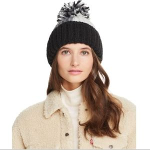 Aqua Beanie With Pom By Bloomingdales.
